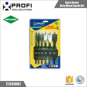 Professional 6pcs Heavy duty wood spade drill bits in set