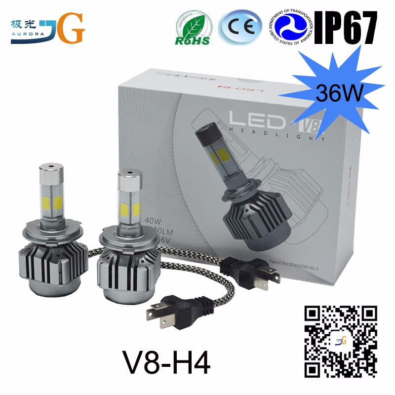 Auto Parts ,H4 Car Led Bulb Led Headlight Car Led Lights