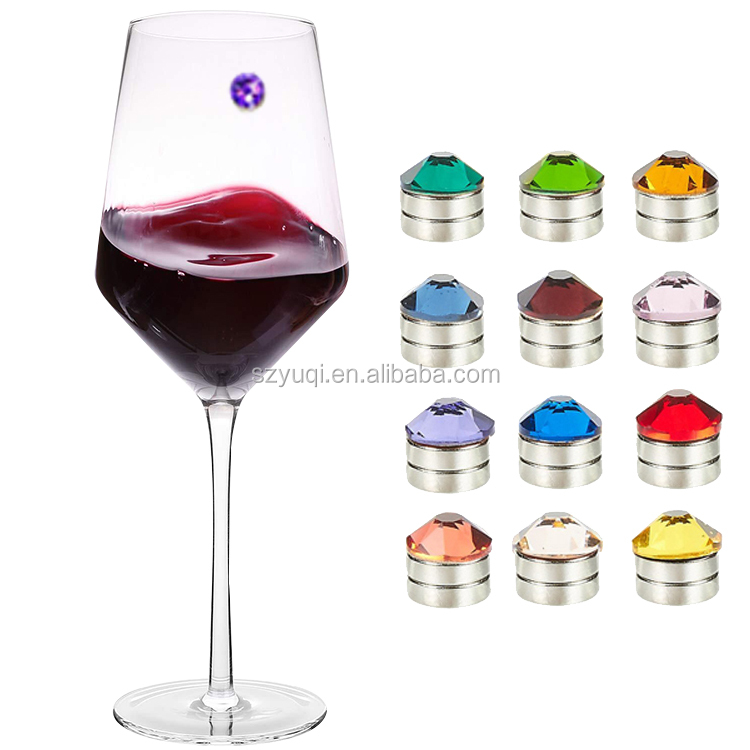 Hot sale magnetic crystal wine charms