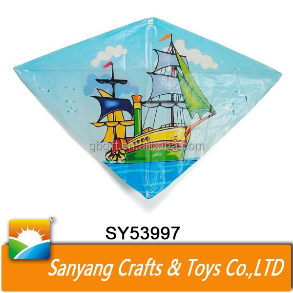 Chinese custom made kites PE cartoon cheap kites for kids