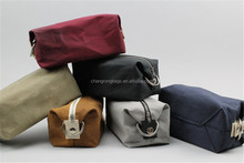 Vintage Waxed Canvas Travel Washing Bag for Men