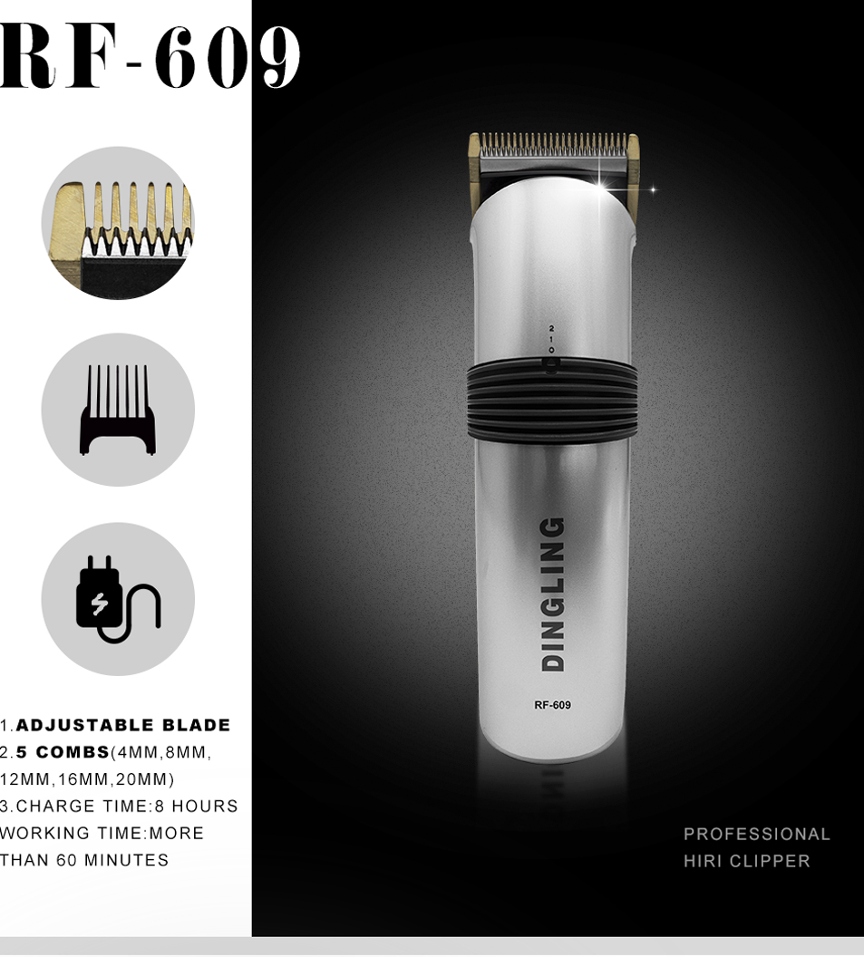 Original cordless dingling barber haar clipper rf-609