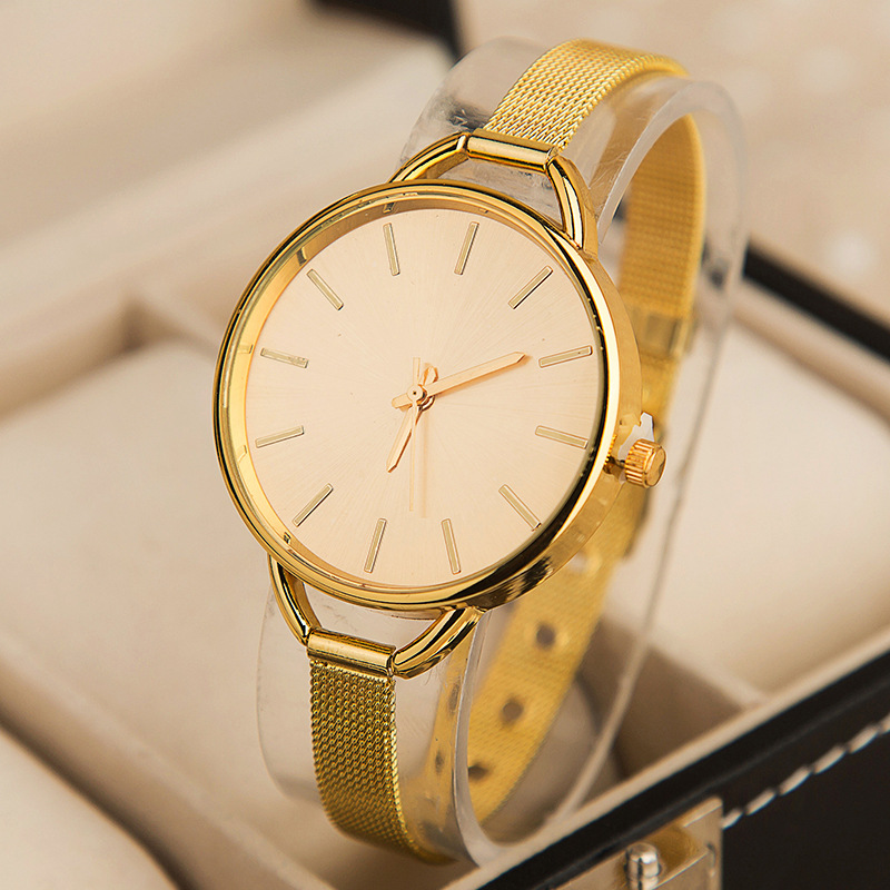 2018 Alibaba Website Sell Well Design Gold Band Ladies Watches