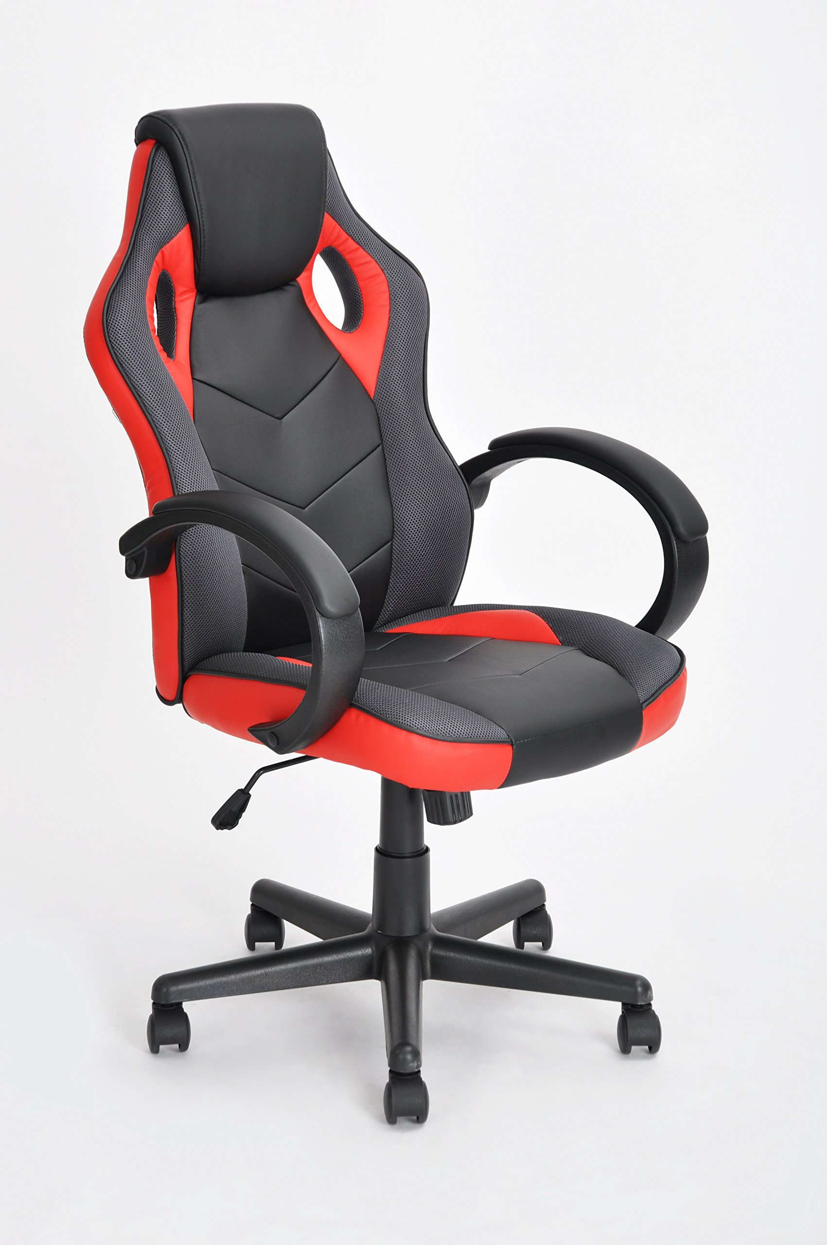 Executive Racing Style Office Chair Pu Leather Swivel Computer Desk Seat High Back Gaming In Black And Red Price On M Alibaba