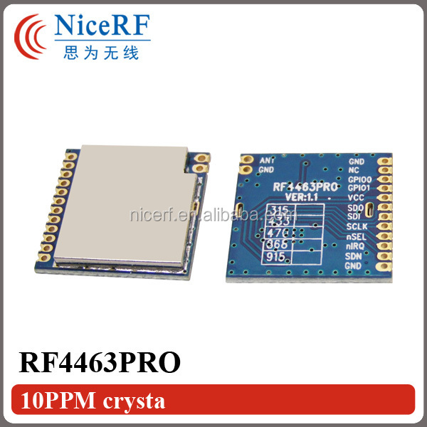 G-NiceRF RF4463PRO Si4432 Chip FSK Modulation SPI Interface 433MHz Audio RF Transmitter And Receiver Module