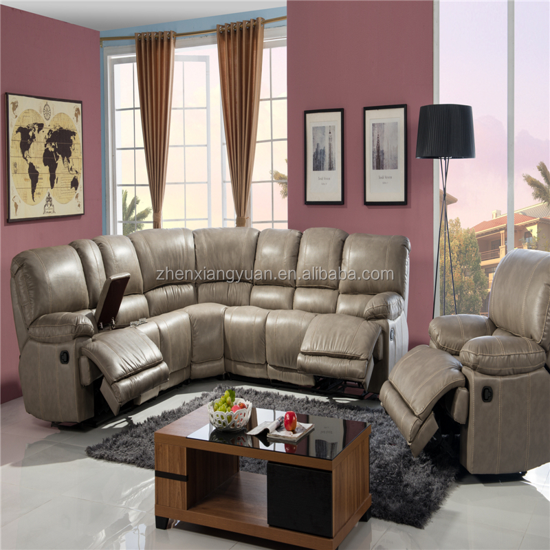 Sf3671 Modern Leather Corner Sofa,Comfortable Sectional Sofa With Recliner  - Buy Round Corner Leather Sofas With Recliners,Fabric Corner Sofa With ...