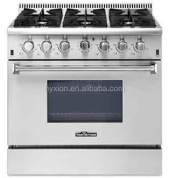 thor kitchen 36 inch luxury 6 burner stainless steel gas range hrg3618u - Thor Kitchen