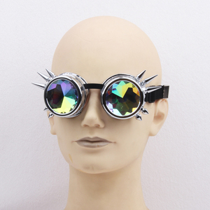 2018 fashion sunglasses for party, white vintage steampunk sunglasses