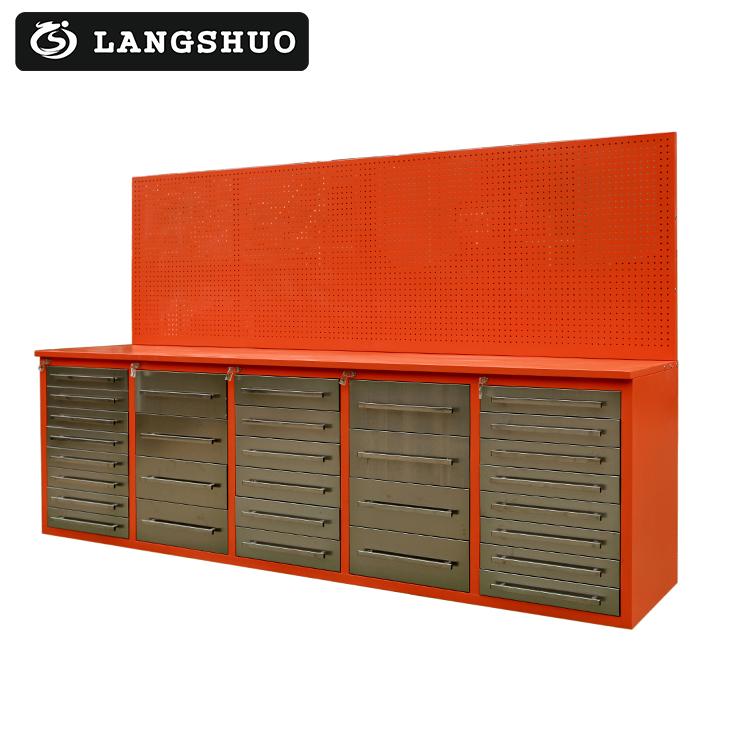 Atelier Garage Armoire à Outils En Métal Banc De Travail En Acier