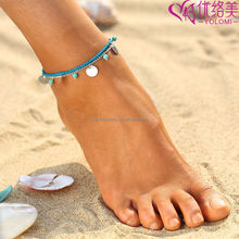 Anklet Foot Double Chain Barefoot Chain Gold Silver Summer Beach Body Jewelry T01