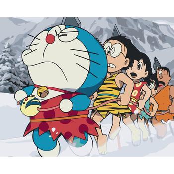 Hot Sale Minyak Lukisan Diy Doraemon Gambar Lucu Kartun Jepang Buy