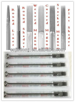 1209 Eo Sterilized Flat Needles(f) Tattoo Needle For Sale 0.35mm ...