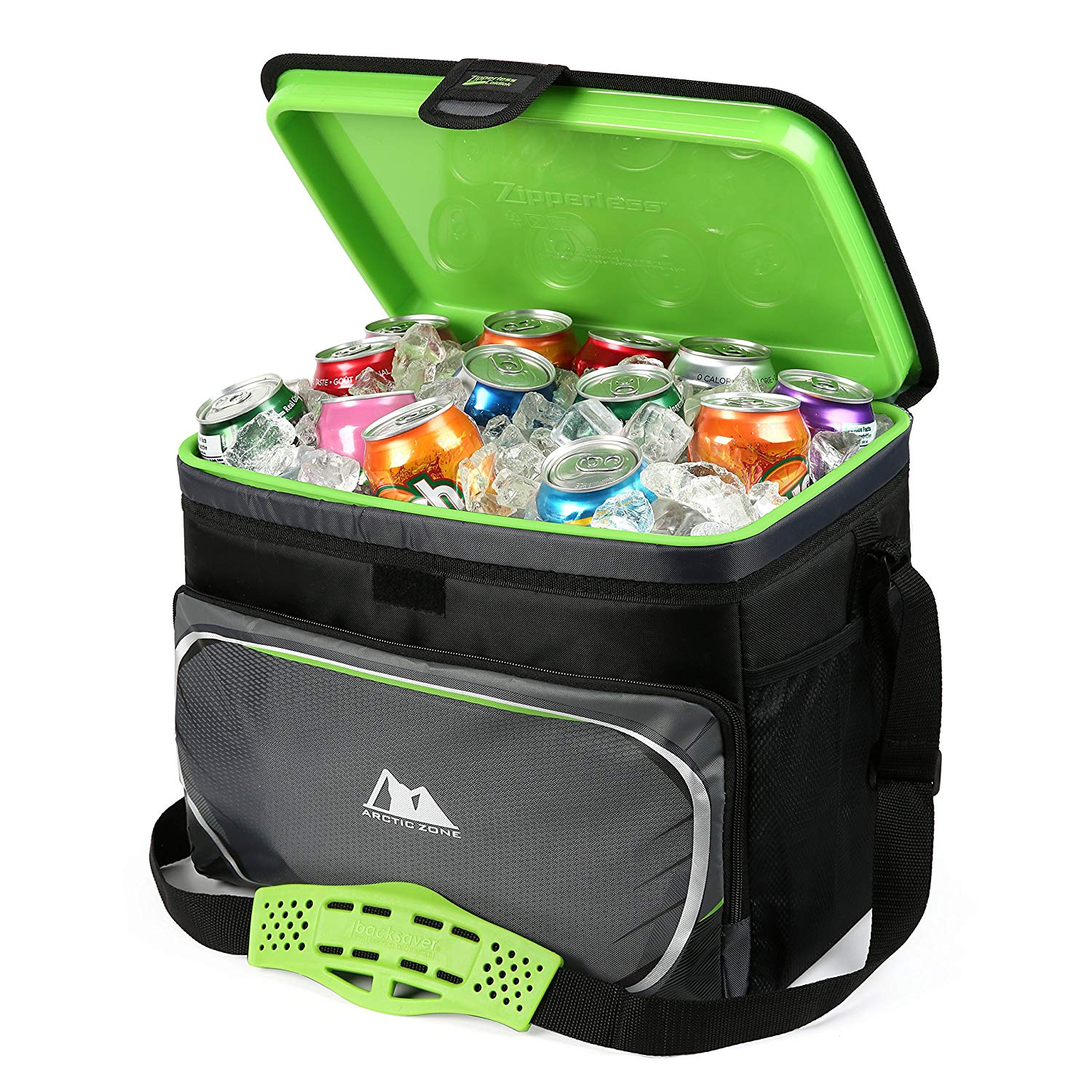 INSULATED CAN ZIPPERLESS COOLER Outdoor Leak Proof Thermal Insulation Food Box