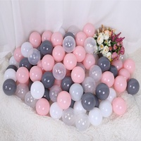 5.5cm 6cm 6.5cm 7cm 8cm Wholesale Bulk Clear Plastic Ball Pit Balls For Ball Pools