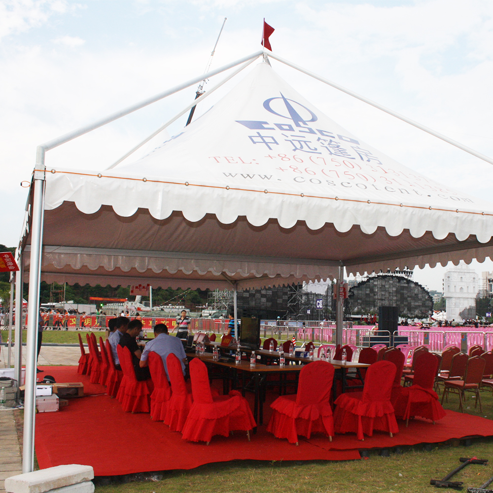 China supplier commercial permanent metal aluminum frame garden furniture outdoor gazebo tent