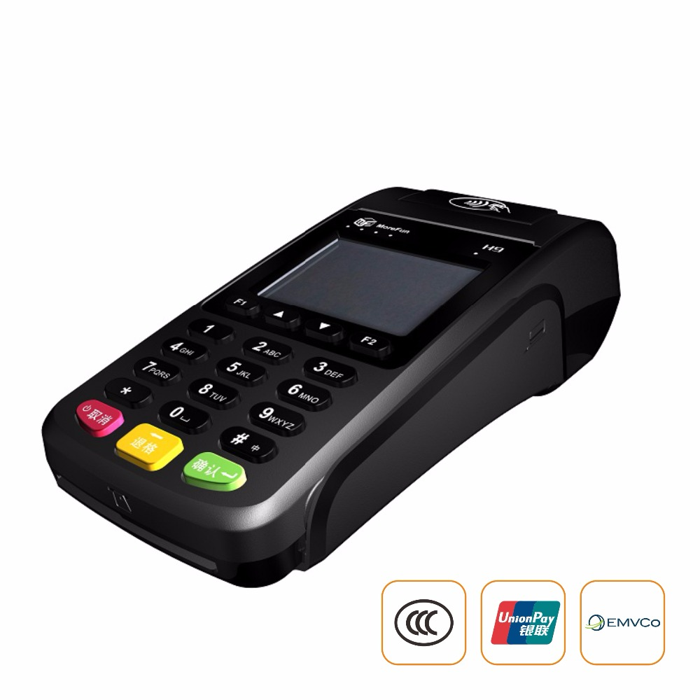 Mobile POS machine GPRS Handheld POS terminal with printer NFC card reader