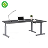 electric height adjustable working table legs motorized smart desk oak table L shape standing table legs with linear actuator