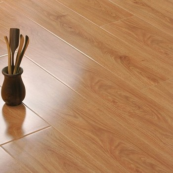 Residential Latest Commercial High Gloss Laminate Flooring 100