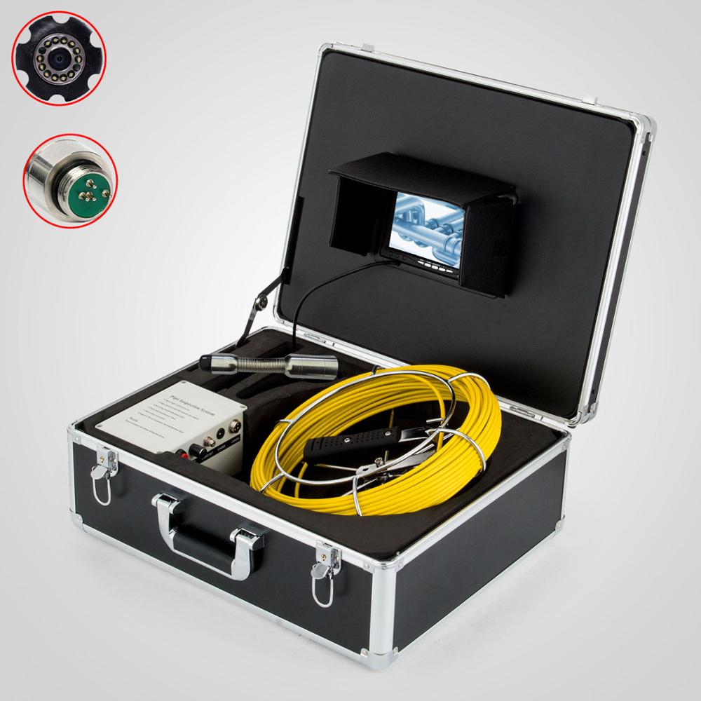 Factory Direct 20m 7inch LCD Pipe Inspection camera for Pipe video Inspection Snake Video Camera System