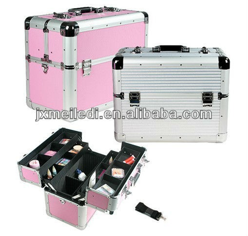 MLD-972 aluminum make up cosmetic brush bags&case