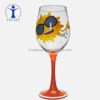 Wholesale Custom Glassware Manufacturer Christmas Goblet Hand
