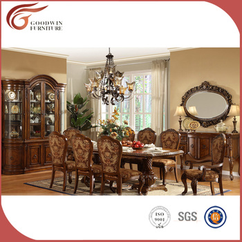 Royal Luxury Classical Wooden Dining Room Furniture Set,European Style  Dining Set, Dining Table Part 28