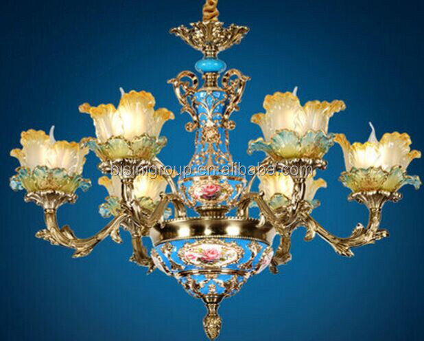 Imperial Louis Style Antique Golden Floral Chandeliers made of Painted Porcelain BF11-11243a