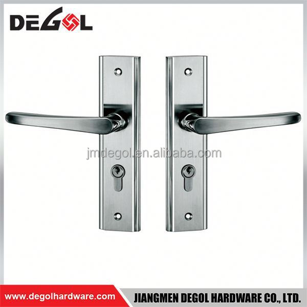 Latest Wholesale stainless steel residential interior lever modern euro style handle on plate