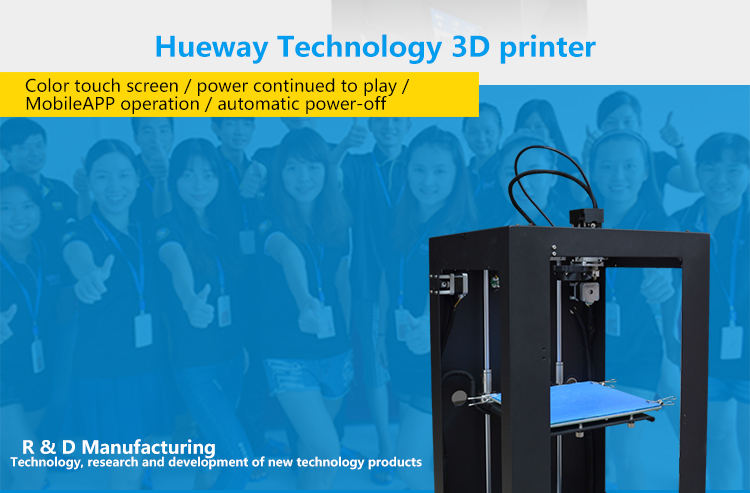 High Speed Desktop 3D Printer Large Build Size 200*200*480mm 2KG PLA Filaments Free