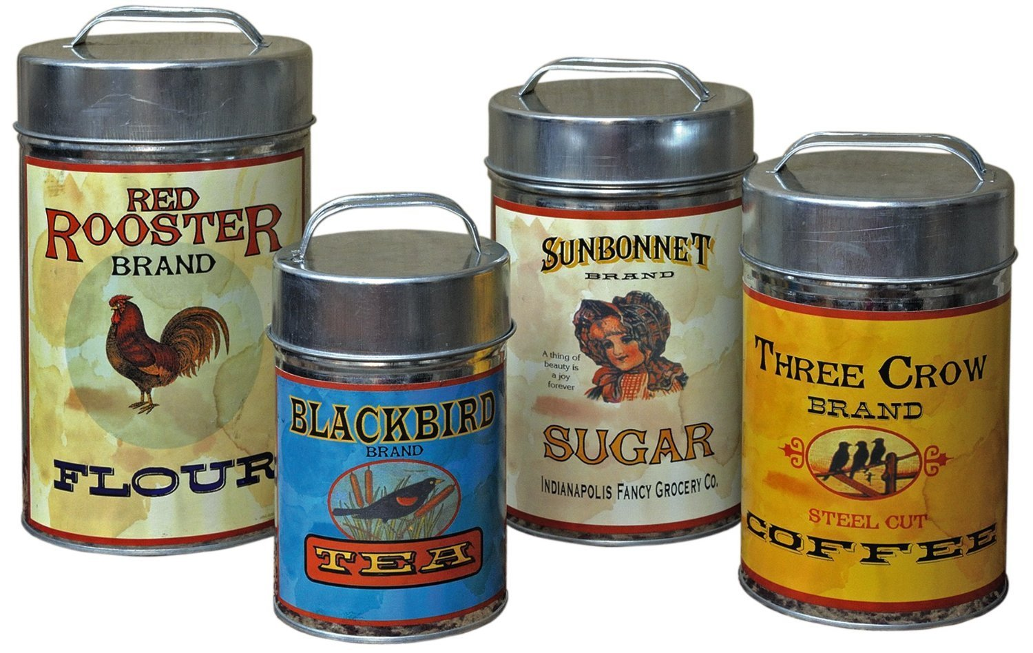 Get Quotations Vintage Canisters Sugar Flour Coffee Tea