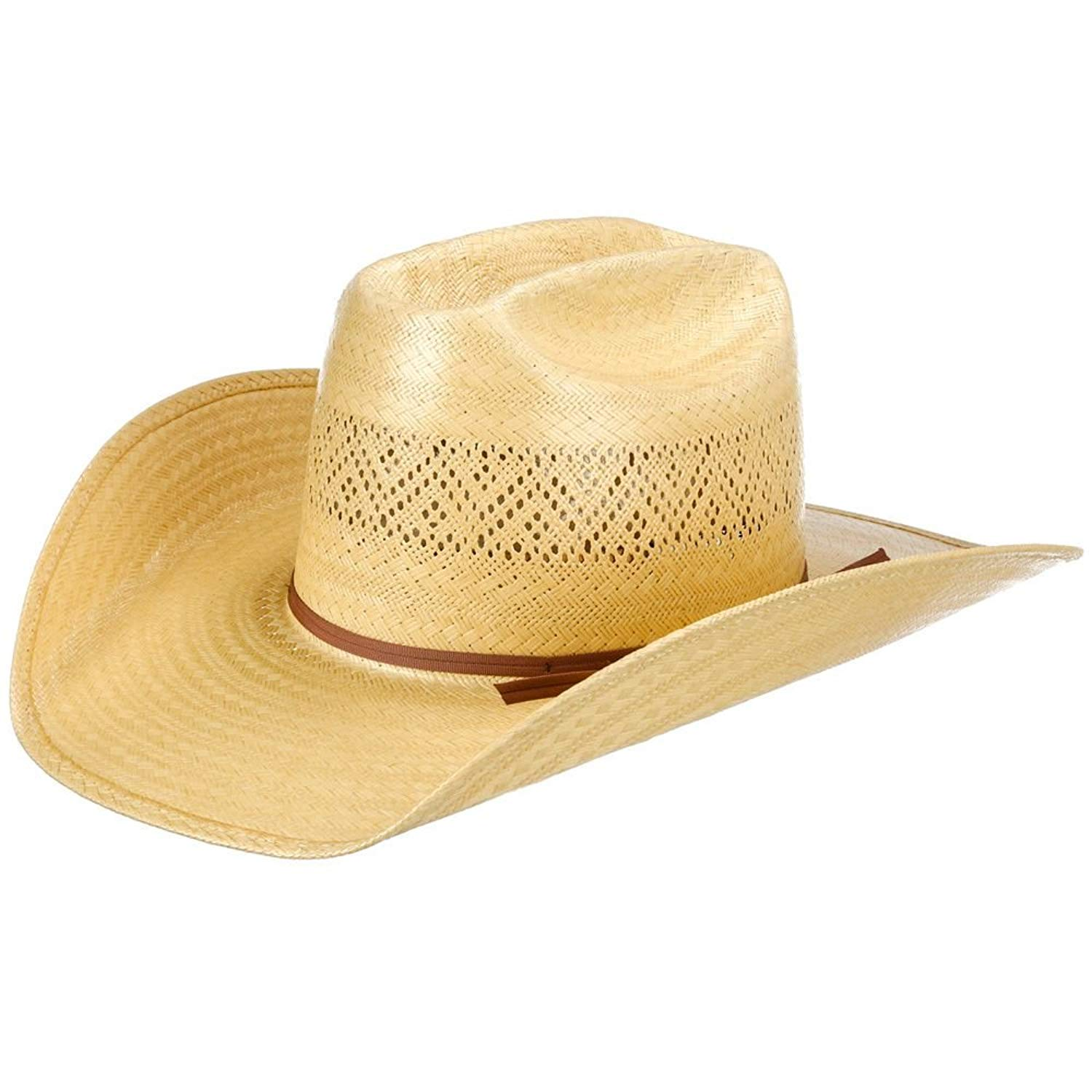 9cf381883afe5 NRS American Hat Company Mens Solid Wheat Open Crown 4 Brim Straw Cowboy Hat