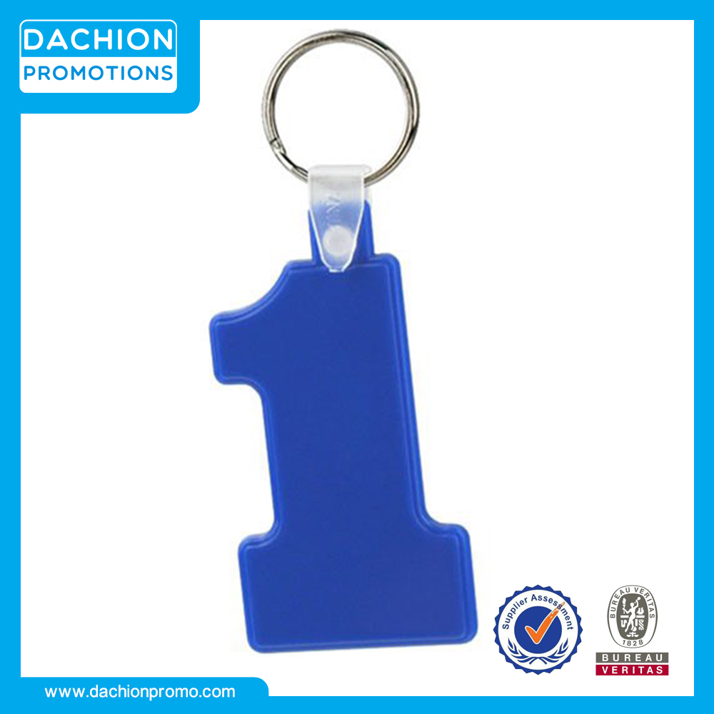 Promotional Number One Soft Key Tag