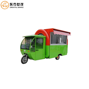 Electric bike cart ice cream kiosk coffee trailer for sale