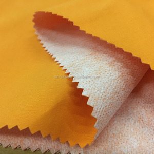 100% polyester twill peach skin fabric used for peaked cap bonded fabric outdoor fabric