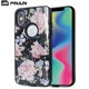 Dual layer black tpu pc 2 in 1 blank shell printed epoxy groove case for moto g6 / g6 play case cover