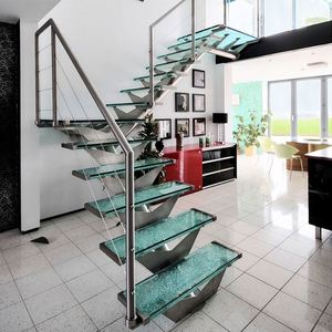 Railings indor straight glass staircase fitting stairway