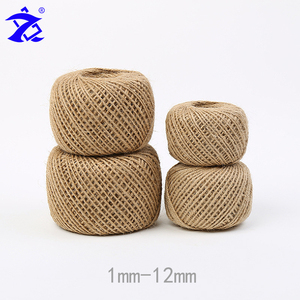1mm/2.5mm/3mm/4mm/5mm natural hemp braided twine jute rope for sale