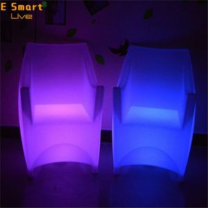 Armless hollow-out designed single seat contemporary stool chair led bar furniture