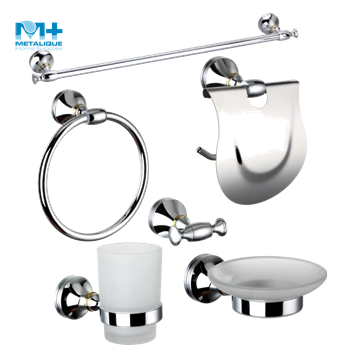 High Quality Bathroom Accessory Brass Chrome Surface Sanitary Ware Set for 5 Star Hotel Project