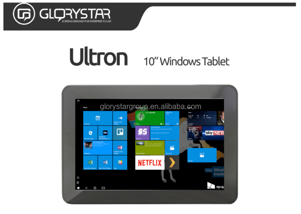 10 inch Rugged windows 10 tablet