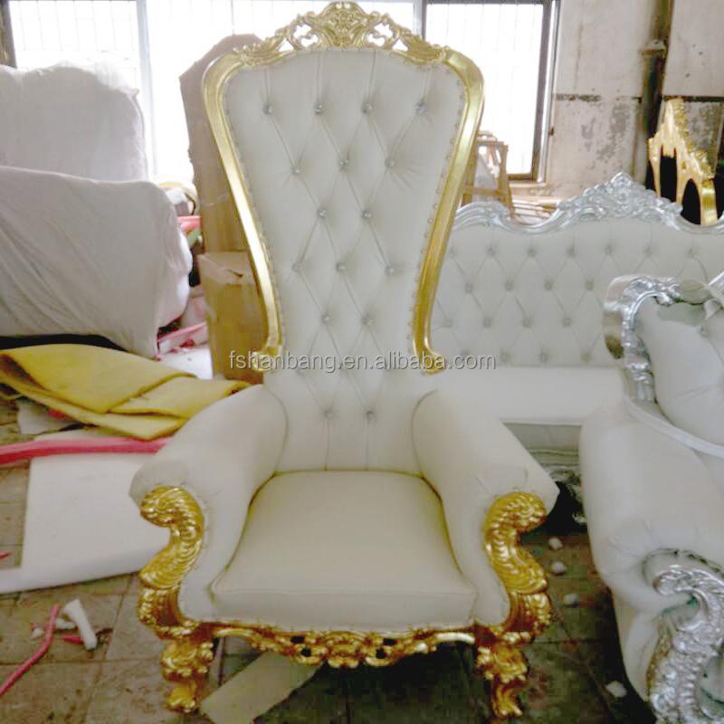 Paars roze blauw wit leer stof goud zilver blad houten koning stoel barok eetkamerstoelen - Stoel dineren baroque ...