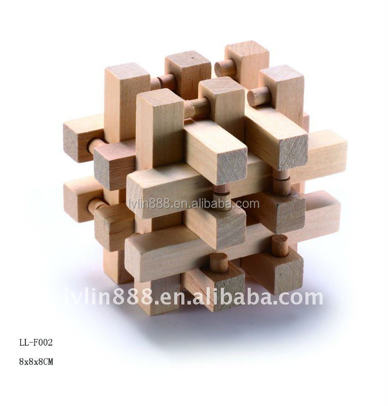 Iq Brain Teaser Kongming Lock 3d Wooden Interlocking Burr Puzzles
