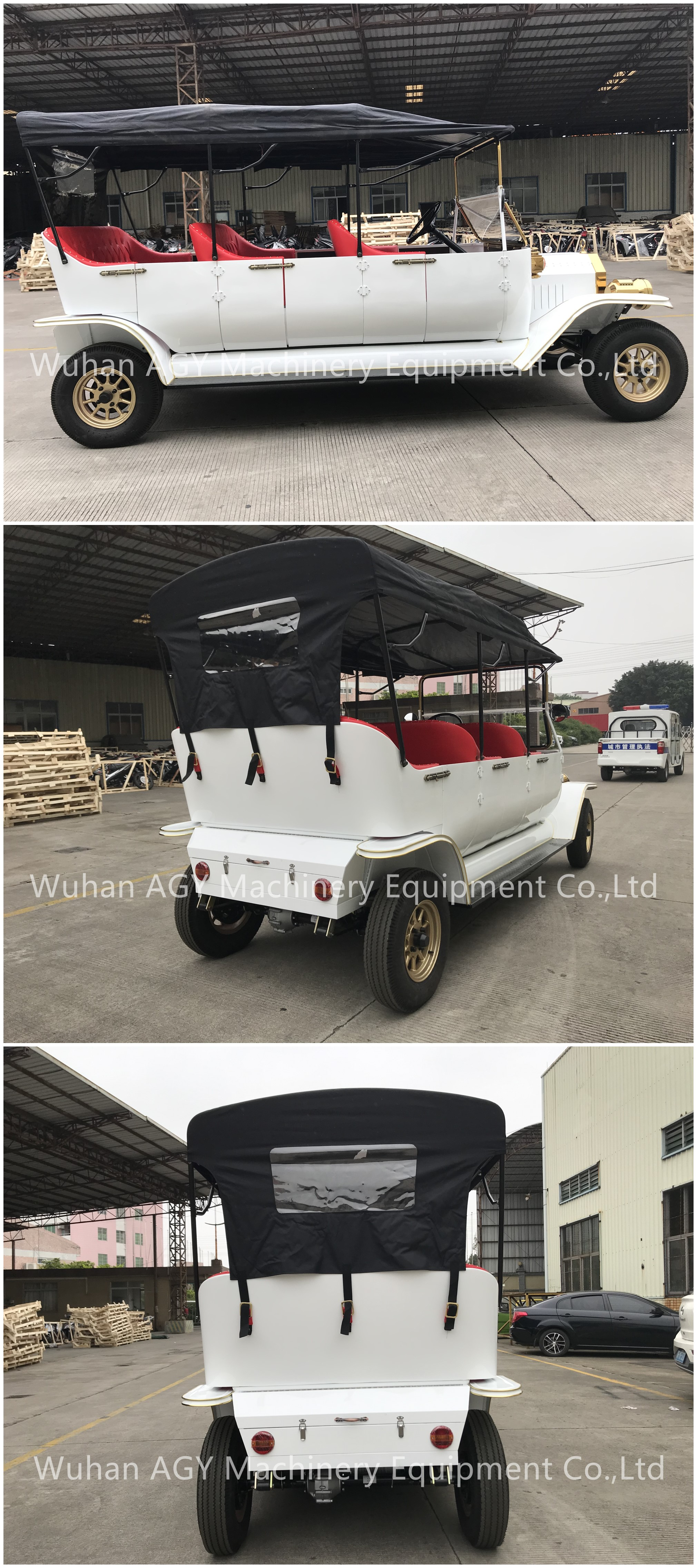 AGY cheap used electric golf carts 8 seater vintage club car with doors