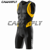CAWANFLY Triathlon Suit Men One Piece Triathlon Wet Suit