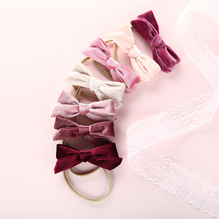 Wholesale Cheap Price Velvet Headband Bows <strong>Hair</strong> <strong>Accessories</strong>