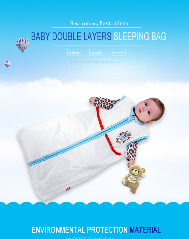 High quality newborn Clothing organic cotton blanket 100% cotton breathable baby sleeping bag Pure cotton