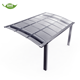 Cheap portable aluminum metal frame car roof polycarbonate panel cover awning for carports garage