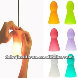 lovely colorful Silicone led candle light parts