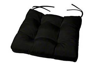 "Tufted Chair Cushion | 19"" x 18"" x 4"" | Cushion Source | Seat Cushion | Indoor/Outdoor | Sunbrella Black (5408-0000)"