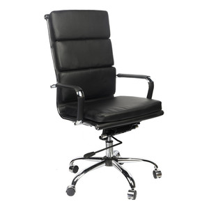 High Quality OEM Manufacture PU Leather Office Meeting Chair For Team Leader